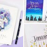 15 Lovely January Cover Ideas for Your Bullet Journal
