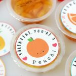 Fruit Cups with Printable Valentine Labels
