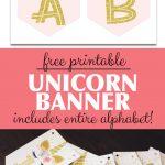 FREE Unicorn Banner Printable