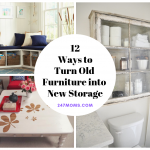 12 Ways to Turn Old Furniture into New Storage
