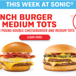 MOM Deal: Double Cheeseburger & Tots at Sonic $2.99