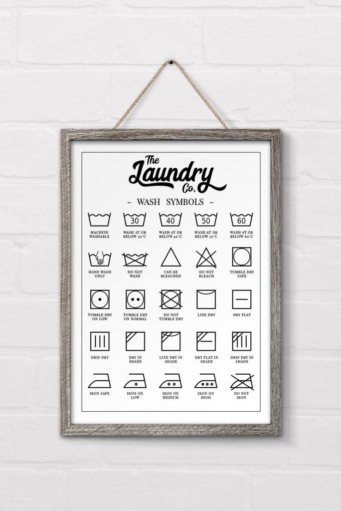 It's just a photo of Enterprising Laundry Symbols Printable
